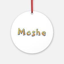 Moshe Giraffe Round Ornament