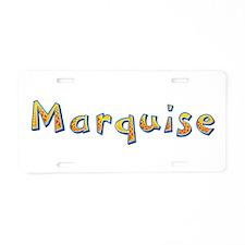 Marquise Giraffe Aluminum License Plate