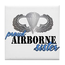 Proud Airborne Sister Tile Coaster