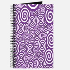 Purple Swirls Journal