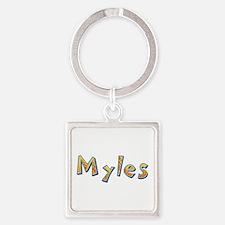 Myles Giraffe Square Keychain