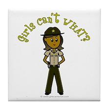 Dark Brown Sheriff Tile Coaster