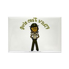 Dark Brown Sheriff Rectangle Magnet
