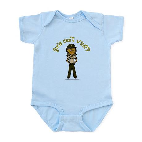 Dark Brown Sheriff Infant Bodysuit