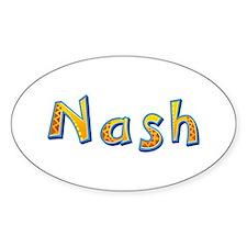 Nash Giraffe Oval Decal
