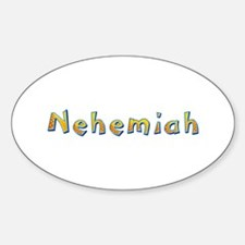 Nehemiah Giraffe Oval Decal