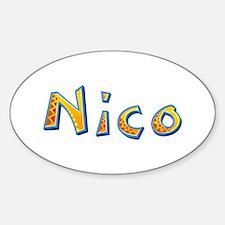 Nico Giraffe Oval Decal