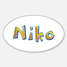 Niko Giraffe Oval Decal