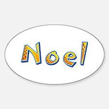 Noel Giraffe Oval Decal