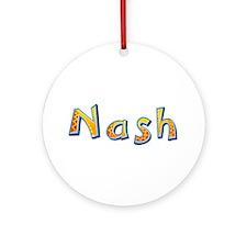 Nash Giraffe Round Ornament