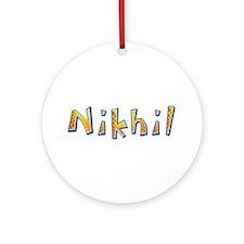 Nikhil Giraffe Round Ornament