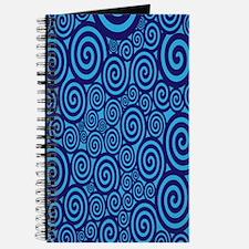 Blue Swirls Journal
