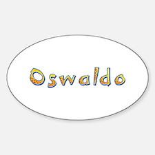 Oswaldo Giraffe Oval Decal
