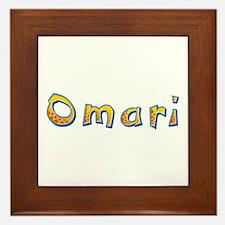 Omari Giraffe Framed Tile