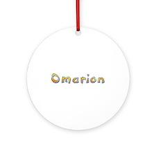 Omarion Giraffe Round Ornament