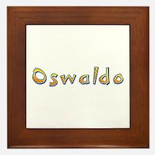 Oswaldo Giraffe Framed Tile