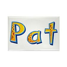 Pat Giraffe Rectangle Magnet