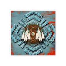 "Native Dream Catcher Square Sticker 3"" x 3"""
