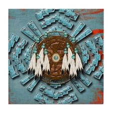 Native Dream Catcher Tile Coaster
