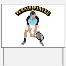 Tennis With Text Yard Sign