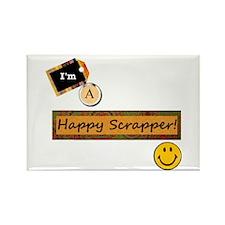 Happy Scrapper Rectangle Magnet (10 pack)