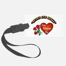 Hearts and Roses with Text Luggage Tag