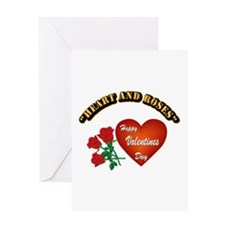 Hearts and Roses with Text Greeting Card