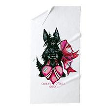 Scottie Valentine Beach Towel
