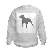pitbull gray 1 Sweatshirt