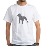 Pitbull shirts Mens White T-shirts