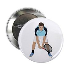 "Tennis Player 2.25"" Button"