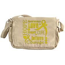 Endometriosis Hope Words Messenger Bag