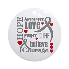 Diabetes Hope Words Ornament (Round)