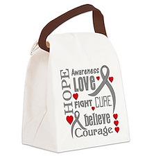 Diabetes Hope Words Canvas Lunch Bag