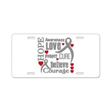 Diabetes Hope Words Aluminum License Plate