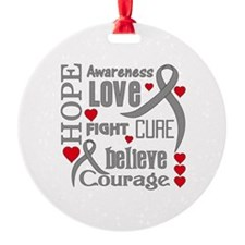 Diabetes Hope Words Round Ornament