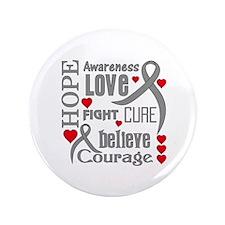"""Diabetes Hope Words 3.5"""" Button"""