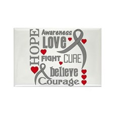 Diabetes Hope Words Rectangle Magnet