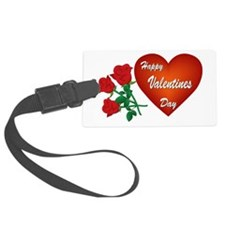 Heart and Roses Luggage Tag
