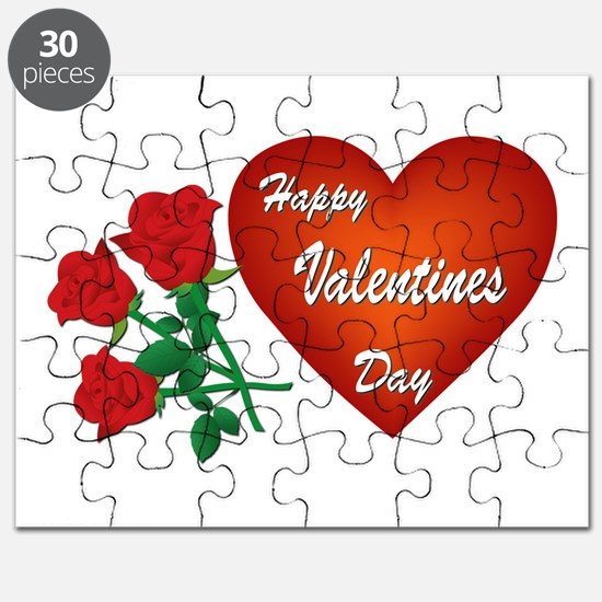 Heart and Roses Puzzle