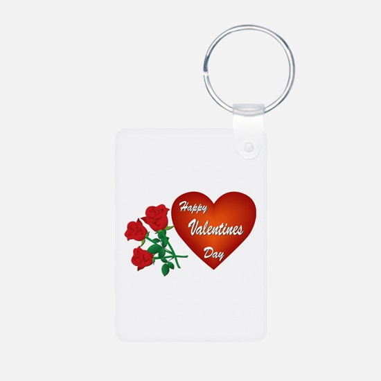 Heart and Roses Keychains