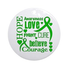 Adrenal Cancer Hope Words Ornament (Round)