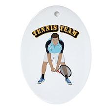 Tennis Team Ornament (Oval)