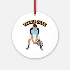 Tennis Team Ornament (Round)