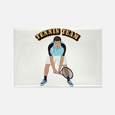 Tennis Team Rectangle Magnet