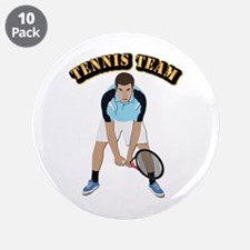 "Tennis Team 3.5"" Button (10 pack)"