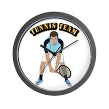 Tennis Team Wall Clock