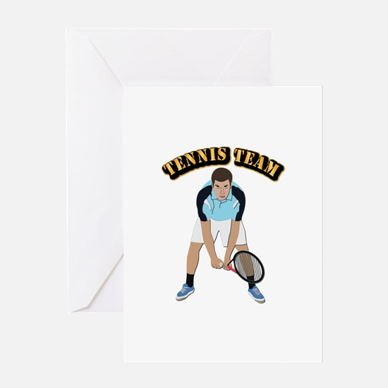 Tennis Team Greeting Card