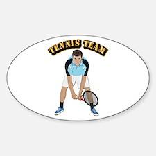 Tennis Team Sticker (Oval)