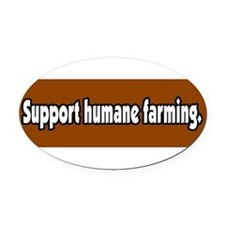 Human rights Oval Car Magnet